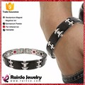 Negro plateado de acero inoxidable accesorios de Jewerly