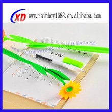 Hot selling 2015 silicone flower pen, promotional pens uk