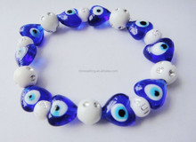 Wholesale evil eyes bracelets murano glass beads stretch bracelet for Mulim gift items