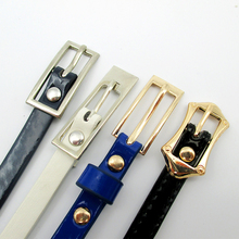 simple pu belts for women fashion skinny lady belt for dress factory