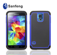 2 in 1 hybrid high impact football grain print case cover for samsung galaxy s5 i9600 mobilephone cover shell import silicone