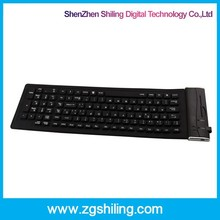 Windows/IPAD Android System Bluetooth Wireless Keyboard , silicone flexible bluetooth keyboard