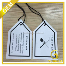 clipped edges recycled paper fashion hang tags with string