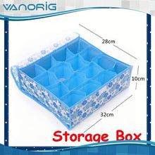 2015 Multifunction Non Woven Foldable promotional clear plastic storage boxes with lid