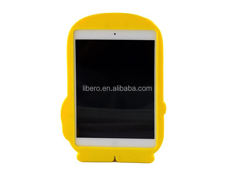Wholesale - For iPad mini Cute 3D Cartoon Soft Silicone Silicon Case Cover for iPad Mini
