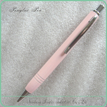 2015 Direct Manufacturer Top Quality click action metal pink color pen