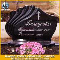 Shanxi Black Granite western style memorial gravestones
