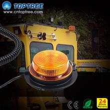 Waterproof Led emergency warning light amber rotating beacon light 12V