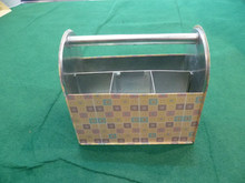 Metal Utensil Caddy Elegant NEW DESIGN Metal Organizer Box/Rectangle Metal Ice Bucket/Sundries Metal Collector Case