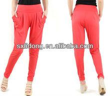 New Design ladies micro fiber multi colors harem pants