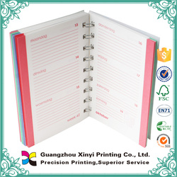 Cheap high quality double YO binding offset paper printing promotional colourful school notebook