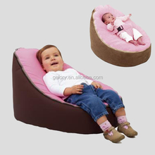 Sofa velvet baby bean bag chair with harness,printed baby bean bag cover
