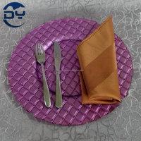 GP0161 DAYA 13inch Glass Decorative Purple Plate