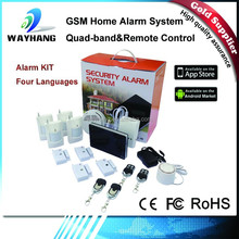 2015 Newest Quad Band GSM Home Alarm Kits G1 With Smoke Detector/Gas Detector Support IOS And Android APP