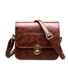 Cathylin 2015 Fashion Brand Women Handbag Burnished PU Famous Brand Discounts Ladies Designer Vintage Single Shoulder bag