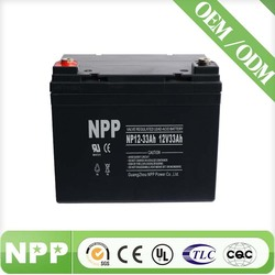 inverter solar lead acid battery 12v 33ah