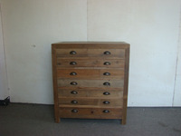 Chinese Antique reclaimed wood cabinet with 7 drawer/chest of drawer