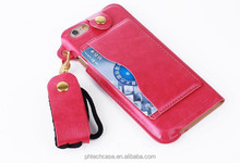 Cell phone accessory phone case, hang rope leather case for iPhone