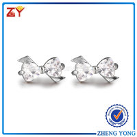 Wholesale cubic zirconia alloy earrings for fashion