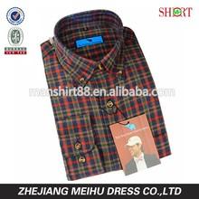 2015 Gentleman Plaids Slim Fit Men's Dress Casual Shirts
