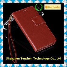2015 hot selling Wallet card holder Folio Leather Case Cover Stand For Iphone 6