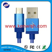 Mesh weave fast charging Micro USB Data Cable for Sumsang HTC and Android smartphone