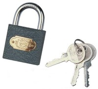 Iron Padlock black barrel lock safe lock colour padlock