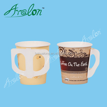 7oz paper cup with handle disposable hot