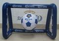 Divertido jogo de futebol inflável do objetivos quintal piscina inflável do objetivo do futebol