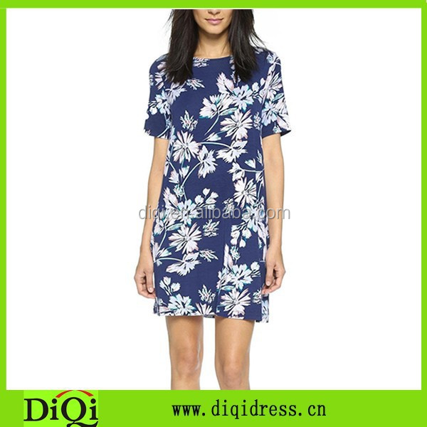 Wholesale Dress Shirts All Over Flower Casual Tee Shirt