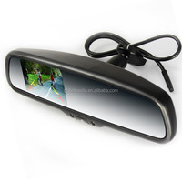 ak-035la 3.5 inch special rearview mirror support car camera with CCD device and FM transmit,MP3 MP4 function auto dimming rear