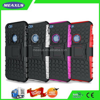 Shockproof Cell Phone Case Rugged Rubber Dual Layer Hard Armor Hybrid Bumper Cover Case With Kickstand Cover For App 6