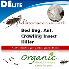 DElite Organic 300G/Bottle Diatomaceous Earth Food Grade Powder Pesticides, Mites, Ants, Slugs,Bugs Killer