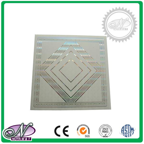 Lightweight beautiful pattern orient design aluminum foil cheap ceiling panel