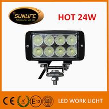 Automotinve lighting 24w led driving light led work lamp waterproof auto parts led head light motorcycle lighting led