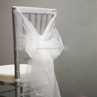 Guangzhou cheap organza chair covers chair sashes for decorative wedding