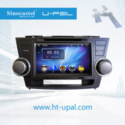 Toyota Highlander 2012 Car DVD Bluetooth GPS, Digital TV, Radio, Mobile Link and Airplay