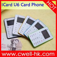 iCard U6 good price 5 color credit card phone