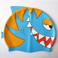 animal printed shark swimming cap HY-06B