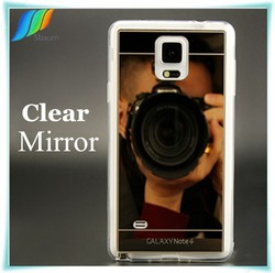 Clear Mirror TPU Case for Samsung Galaxy note 4 case