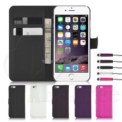 """Wallet PU Leather Flip Card Slots Case Cover For Apple iPhone 6 4.7"""""""