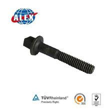 Best quality design 45# Steel wax concrete sleeper screw spike