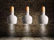 Decorative Concrete Light Modern Concrete Hanging Pendant Light For Restaurant