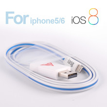 Wohlesale USB cable Newest Visible LED Light USB Cable for iPhone 5 5s 5c iPod Pad- USB charger