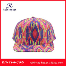 wholesle custom made digital print all over the hat flat brim 6 panel snapback cap
