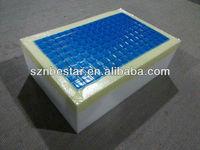 Washable flexible blue cooling gel mattress