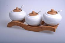 high quality wholesale ceramic roast seasonings /ceramic cookware wholesale/3pcs set ceramic season pot roast whole sale