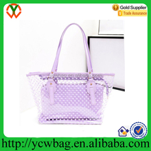 women`s PVC shoulder handbags satchel tote shopping bags