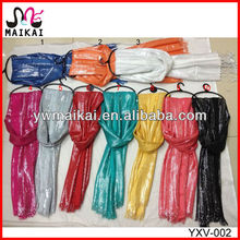 Wholesale 100% viscose with silver lurex fashion shiny scarf