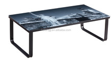 glass frosted coffe table